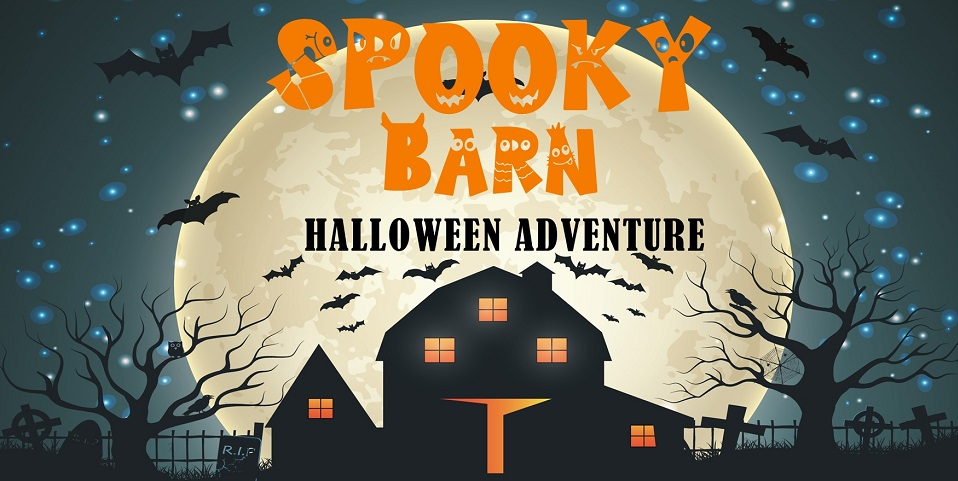Halloween adventure in the spooky barn