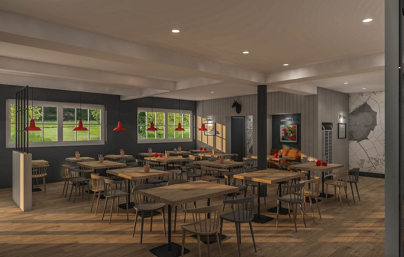 Projected image of the new Coach House Cafe