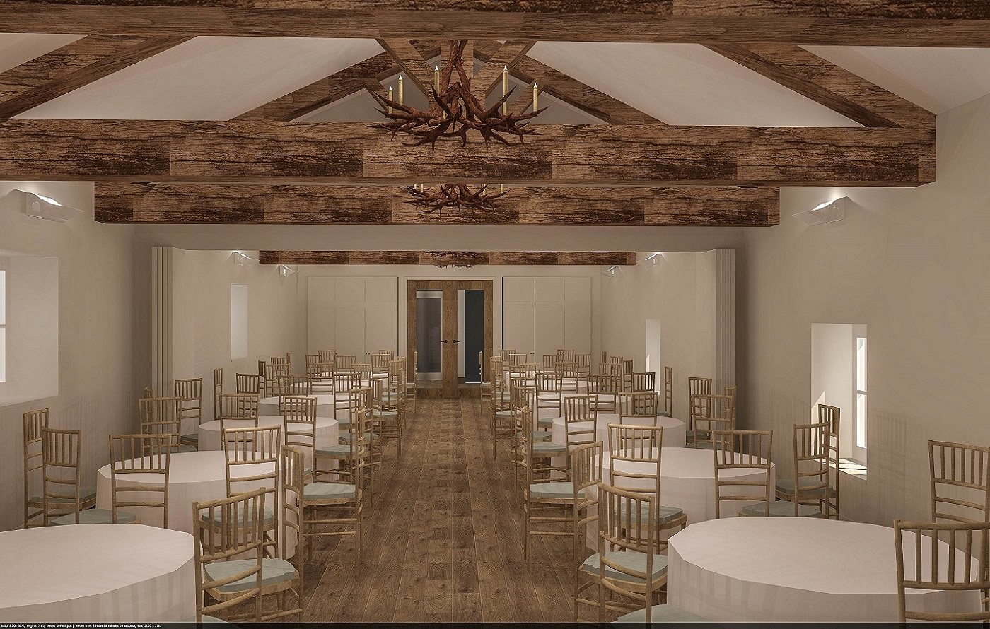 Projected image of the new function rooms