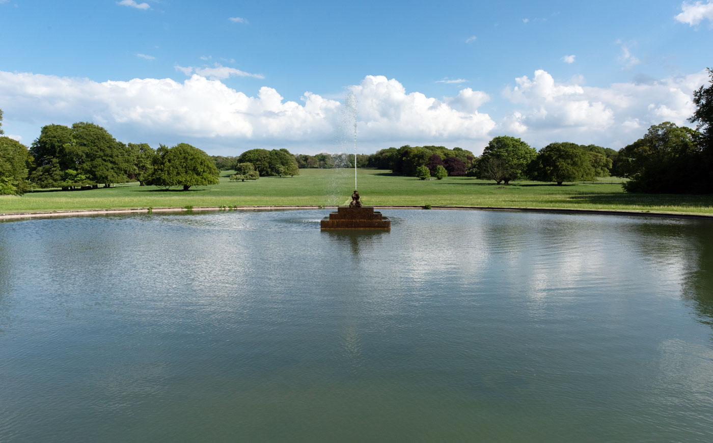 The lake at Sledmere House, East Yorkshire