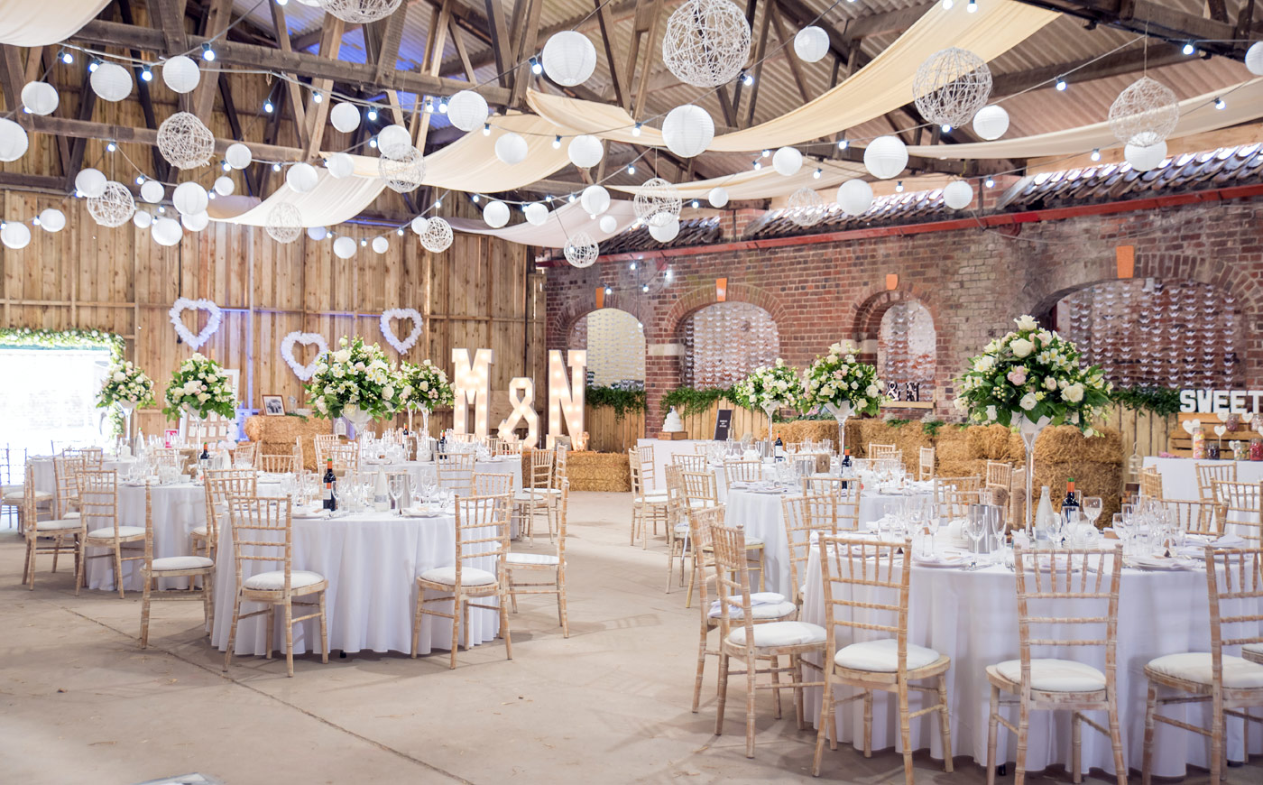 The Sykes Barn – wedding venue at Sledmere House, East Yorkshire